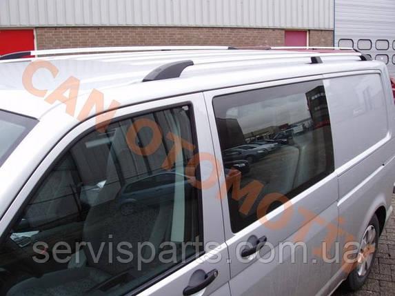 Рейлінги на дах для Volkswagen Transporter T5 алюмінієві Crown з пластиковими ніжками(Транспортер), фото 2
