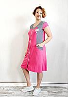Халат жіночий річний короткий зі смужкою, фото 1