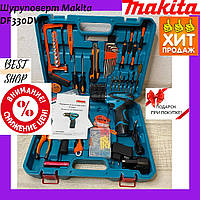 Шуруповерт Makita DF330DWE (12V, 2Ah) з набором інструментів (мультитулс), Акумуляторний шуруповерт Макіта