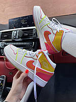 Яркие кроссовки девушке Nike Air Jordan 1 Mid Multicolor. Найк Аир Джордан 1 кроссовки для девушек.