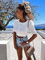 Красивая летняя блузка на  завязках с открытой спиной
