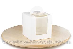 Белая коробка с ручкой, 115х115х120 мм (50 штук)