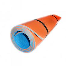 Килимок (каремат) для йоги, фітнесу та спорту OSPORT Profi 8мм (FI-0122-1) Синьо-помаранчевий