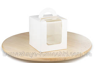 Белая коробка с ручкой, 115х115х120 мм (10 штук)