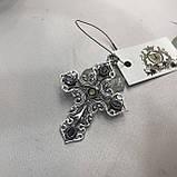 Аметист кулон крест с аметистом в серебре Индия кулон крестик с камнем аметист Индия, фото 2