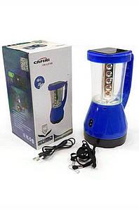 Фонарик-лампа 2в1 кемпинговый CN-L816B с солнечной батарей Cafini 132896P
