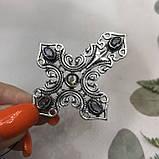Аметист кулон крест с аметистом в серебре Индия кулон крестик с камнем аметист Индия, фото 4