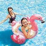 Дитячий надувний круг ФЛАМІНГО intex 99x89x71 см для плавання в басейні на море для пляжу 56251, фото 8
