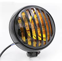 Мото фара головного світла 5 дюймів, Cafe Racer, Bobber, Custom, 12 В. метал