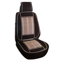 Накидка-массажер на сиденье Elegant  бамбук, полиэстр 47х130 черный мiх (106458)