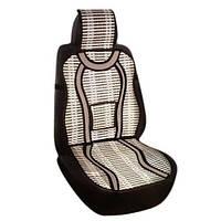 Накидка-массажер на сиденье Elegant Массажер бамбук, полиэстр 47х127 серая
