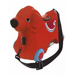 Каталка для малыша Путешествие с отделением для вещей BIG Красная