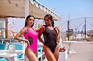 Жіночий стильний купальник з сіткою злитий на бретелях з відкритою спиною, фото 2