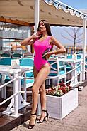 Жіночий стильний купальник з сіткою злитий на бретелях з відкритою спиною, фото 6