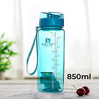 Бутылка для воды CASNO 850 мл MX-5040 More Love Голубая, фото 1