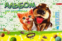 """Альбом для рисования 50 л. на спирали """"Cute Pets"""" 160г./кв.м. А-22"""
