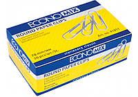 Скріпка 78 мм кругла Economix, з насічкою , 50шт. E41011