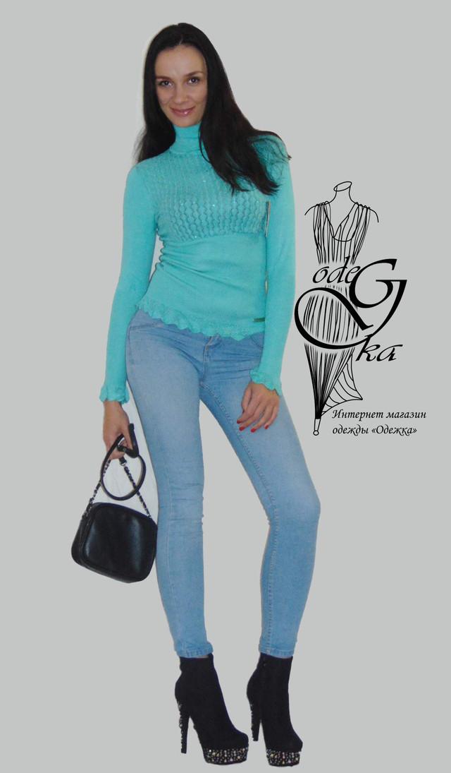 Фото-1 Гольфа женского ажурного с длинным рукавом Светлана03 SvSlN03