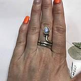 Лунный камень кольцо с натуральным камнем лунный камень в серебре. Кольцо с лунным камнем размер 17,8 Индия, фото 2
