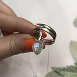 Лунный камень кольцо с натуральным камнем лунный камень в серебре. Кольцо с лунным камнем размер 17,8 Индия, фото 3