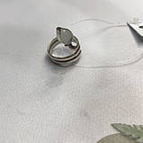 Лунный камень кольцо с натуральным камнем лунный камень в серебре. Кольцо с лунным камнем размер 17,8 Индия, фото 8