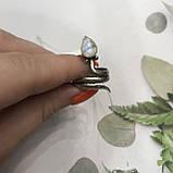 Лунный камень кольцо с натуральным камнем лунный камень в серебре. Кольцо с лунным камнем размер 17,8 Индия, фото 4