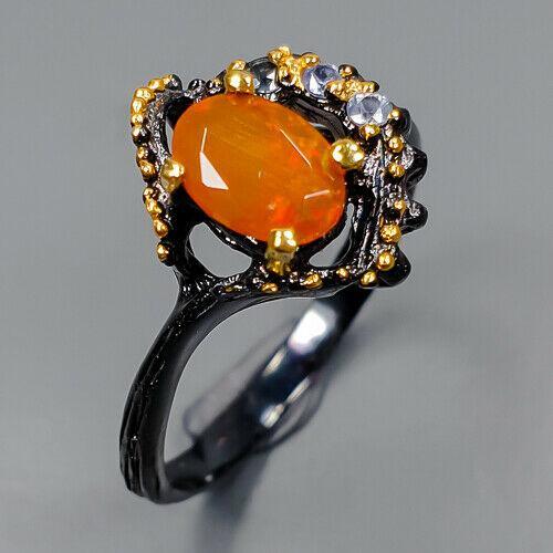Серебряное кольцо с опалом огненным, 1736КО