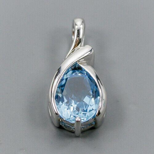 Срібний кулон з топазом, 1572КЛТ