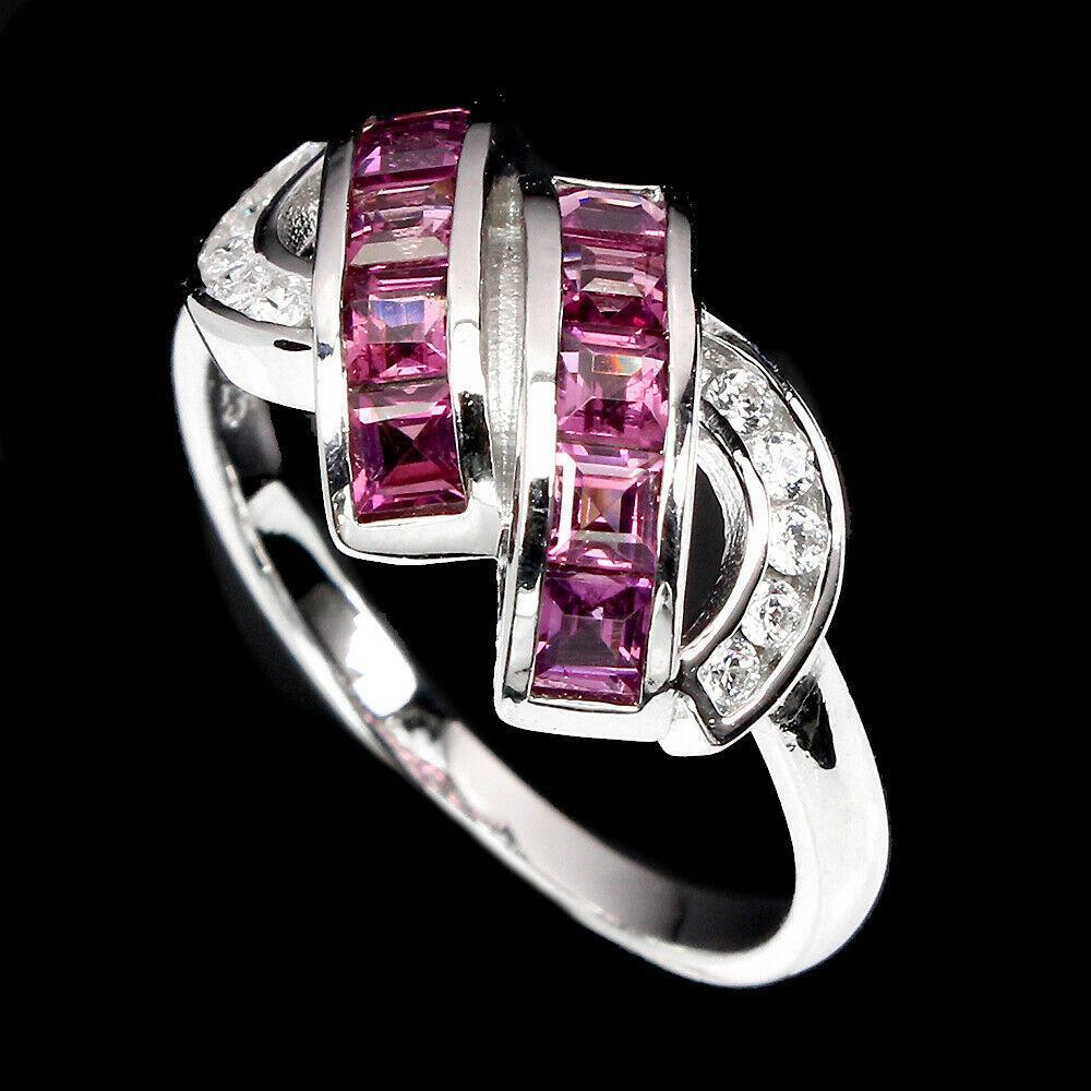 Серебряное кольцо с гранатом родолит, 1746КГ