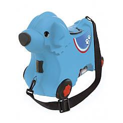 Каталка для малыша Путешествие с отделением для вещей BIG Синий