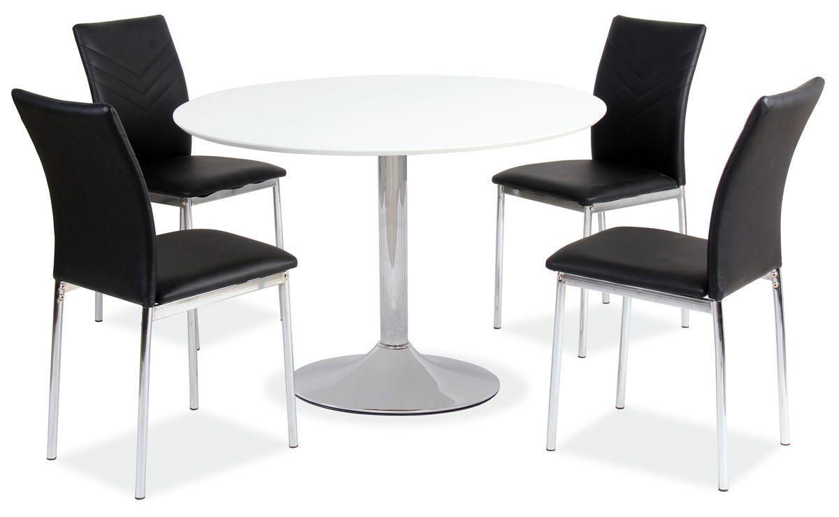 Стол обеденный Signal Flavio D-90 см Белый (FLAVIO), стол круглый обеденный белого цвета