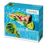 Пляжный надувной матрас intex ДОЛЬКА КИВИ 178x85 см для бассейна и плавания 58764, фото 5