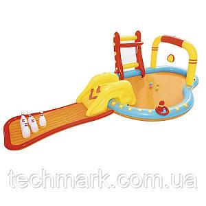 Надувной Игровой центр «Маленькие чемпионы» с горкой и бассейном Bestway 53068