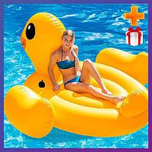 Надувний пліт для катання Intex 56286 Качечка 221x221x122 см + подарунок