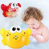 Вubble crab Игрушка для купания в ванной музыкальный краб, фото 2