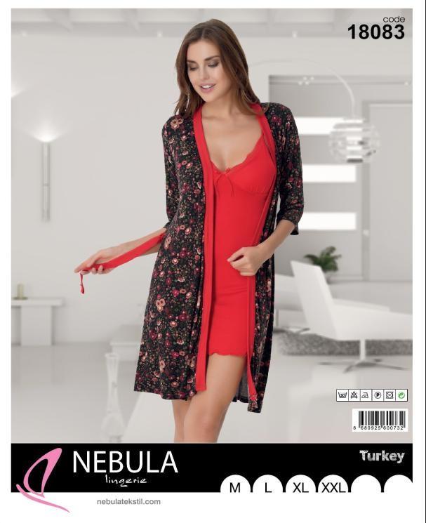 Комплект халат с рубашкой NEBULA 18083