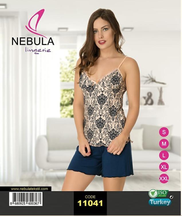 Пижама летняя женская футболка c шортами NEBULA 11041