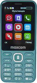 Мобильный телефон Maxcom MM814 Green Гарантия 12 месяцев