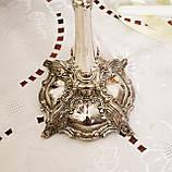 Посеребренный каминный подсвечник, серебрение по латуни, винтаж, Англия, Silver Plate, фото 7