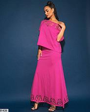 Жіночий трикотажний костюм з довгою спідницею розміри: 50-56, фото 3