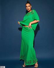 Жіночий трикотажний костюм з довгою спідницею розміри: 50-56, фото 2