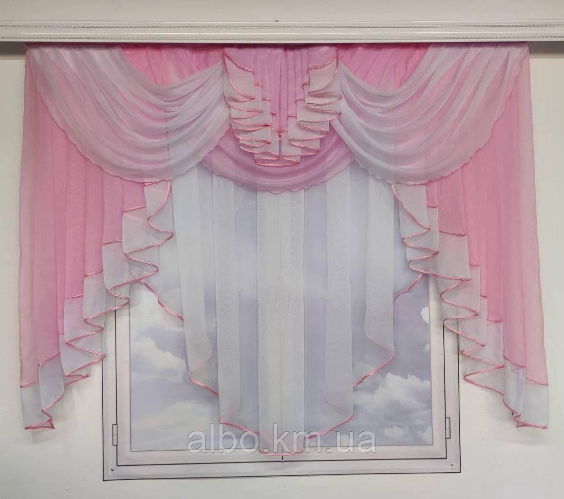 Занавеска в зал спальню гостиную из шифона, красивые занавески для гостиной зала кухни, тюль из шифона для