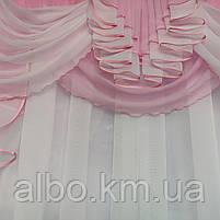 Занавеска в зал спальню гостиную из шифона, красивые занавески для гостиной зала кухни, тюль из шифона для, фото 3