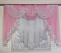 Занавеска в зал спальню гостиную из шифона, красивые занавески для гостиной зала кухни, тюль из шифона для, фото 6