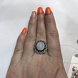 Лунный камень кольцо с натуральным камнем лунный камень в серебре. Кольцо с лунным камнем размер 18 Индия, фото 2