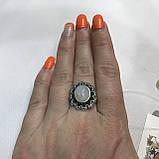 Місячний камінь кільце з натуральним каменем місячний камінь в сріблі. Кільце з місячним каменем розмір 18 Індія, фото 2