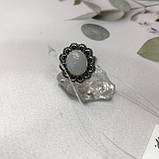 Лунный камень кольцо с натуральным камнем лунный камень в серебре. Кольцо с лунным камнем размер 18 Индия, фото 7