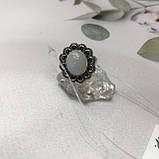 Місячний камінь кільце з натуральним каменем місячний камінь в сріблі. Кільце з місячним каменем розмір 18 Індія, фото 7