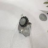 Лунный камень кольцо с натуральным камнем лунный камень в серебре. Кольцо с лунным камнем размер 18 Индия, фото 6