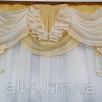 Готовый тюль из шифона для комнаты спальни кухни, шифоновый тюль для дома зала гостинной, тюль на окна в, фото 5